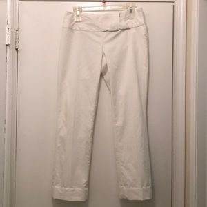 The Limited light cream side closure dressy pants
